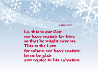 let us be glad and rejoice in his salvation