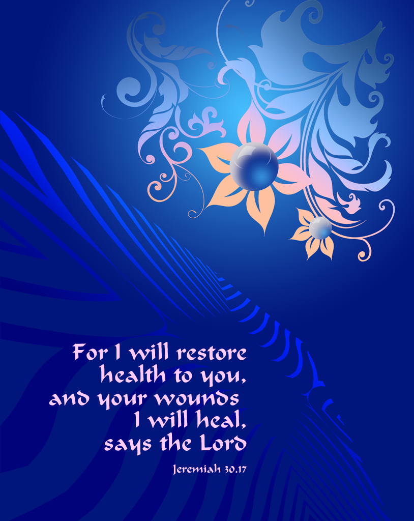 jeremiah 3017 poster for i will restore health to you