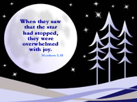 When they saw that the star had stopped, they were overwhelmed with joy.