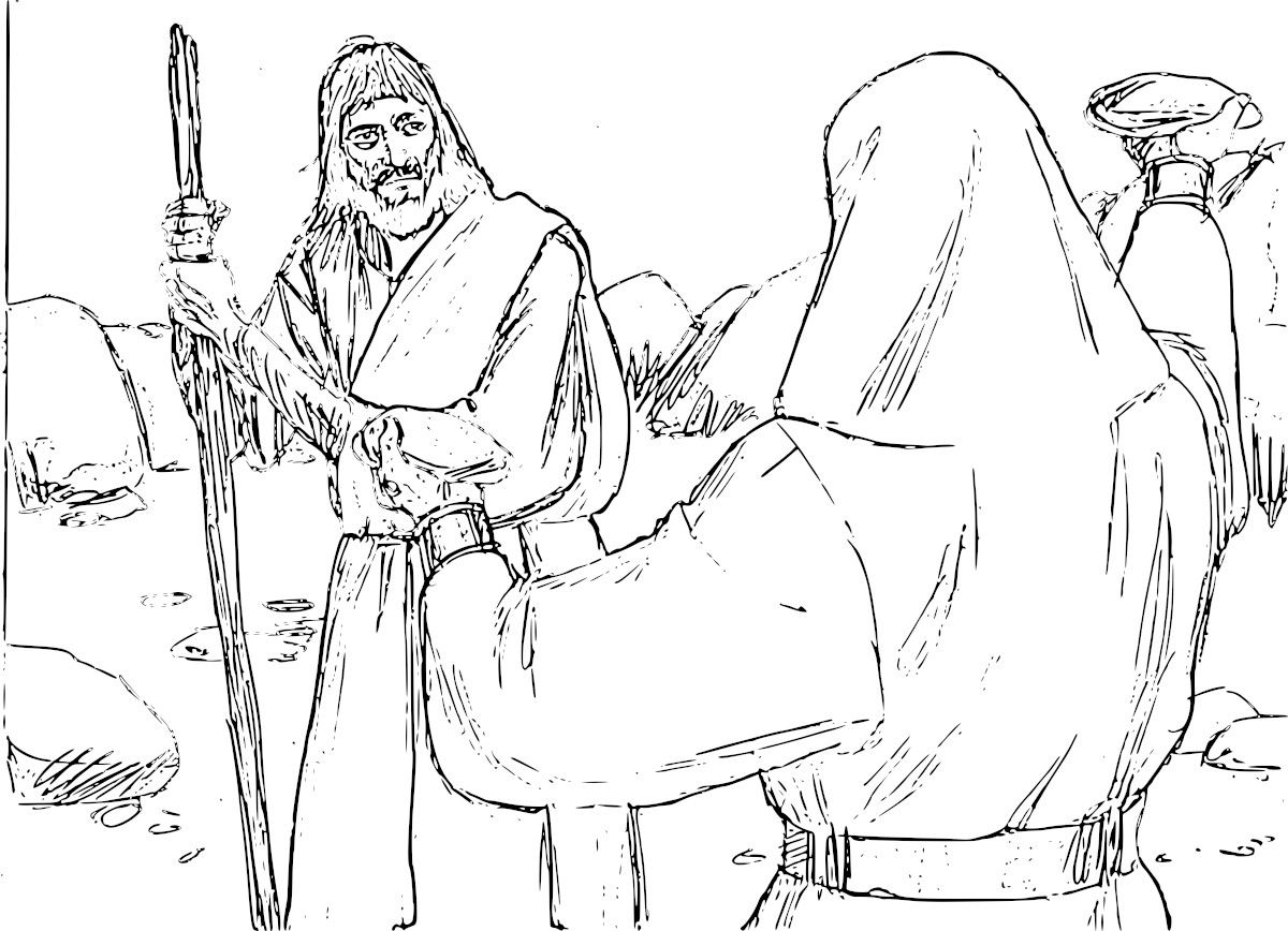 Jesus is Tempted in the Desert Coloring Pages